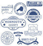 Monmouth county, NJ, generic stamps and signs