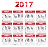 2017 French calendar