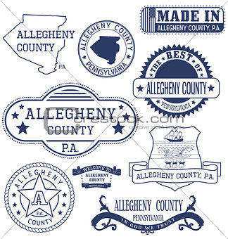 Allegheny county, PA, generic stamps and signs