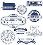 Allentown city, PA, generic stamps and signs