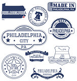 Philadelphia city, PA, generic stamps and signs