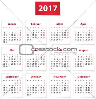 2017 German calendar