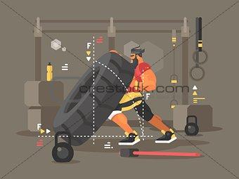Crossfit workout flat