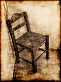 Old wooden chair - retro style