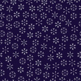 vector snowflakes seamless pattern
