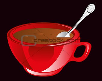 Cup hot coffee