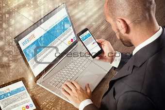 Corporate website on devices