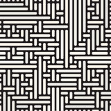 Vector Seamless Rounded Irregular Lines Pattern