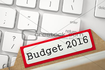 Card File with Budget 2016.