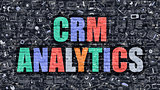 CRM Analytics Concept with Doodle Design Icons.