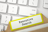 Archive Bookmarks of Card Index with Executive Search.