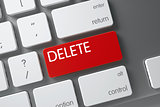 Keyboard with Red Key - Delete.