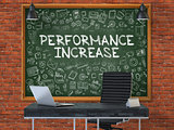 Performance Increase - Hand Drawn on Green Chalkboard.