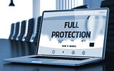 Full Protection on Laptop in Meeting Room.