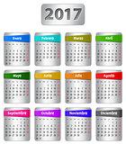 2017 Spanish calendar