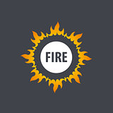 fire vector logo