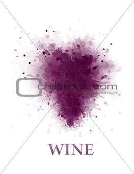 abstract wine grape