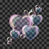 Shiny bubble heart
