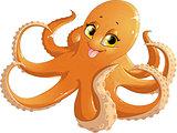 beautiful orange octopus