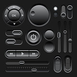 Black Web UI Elements Design