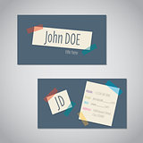 Business card with color tapes