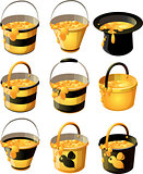 yellow honey bucket