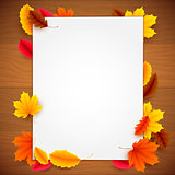 Paper List on Autumn Background