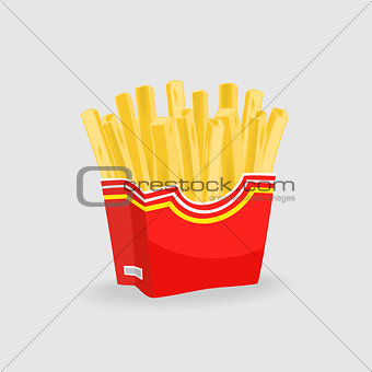 French Fries Vector Illustration