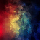 Abstract 2D colorful triangle geometric background