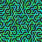 Vector Seamless Multicolor Irregular Lines Pattern