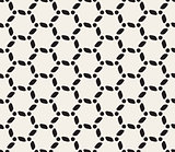 Vector Seamless Black and White Rounded Lines Pattern