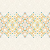 Vector seamless pattern with art ornament for design