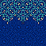 Vector seamless border pattern oriental ornament for design