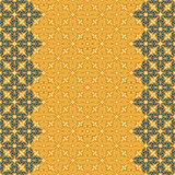 Vector seamless border pattern oriental ornament for design