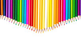 Color pencils with white copy space below
