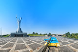 Mother of the Fatherland monument in Kiev, Ukraine. The sculptur