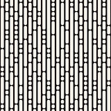 Vector Seamless Black and White Irregular Rounded Dash Lines Pattern
