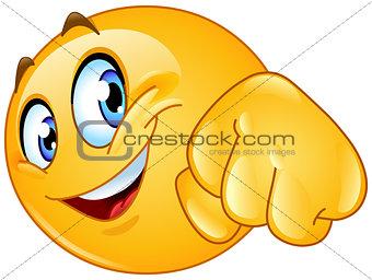 Fist bump emoticon
