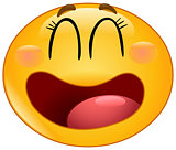 Laughing manga emoticon