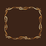 Golden Frame With Copyspace