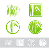 Bamboo Logo Design Set