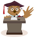 Owl professor said from podium