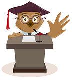 Owl professor said from podium