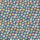 Cute little flowers seamless pattern. Vector illustration