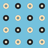 Records and CDs vector seamless pattern