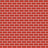 Brick pattern. Seamless vector red brick wall background