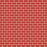 Brick pattern. Seamless vector red brick wall background