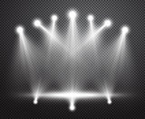 Realistic stage lighting vector background