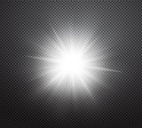 Vibrant sun rays or burst vector light effect