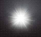 Vibrant sun rays or burst vector light effect